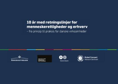 Menneskerettigheder og erhverv – fra princip til praksis for danske virksomheder (14.06.2021)
